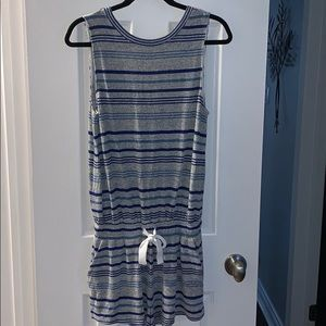 Wilfred romper with blue strips